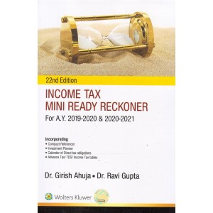 Wolter Kluwer's Income Tax Mini Ready Reckoner 2019-20 by Dr. Girish Ahuja & Dr. Ravi Gupta