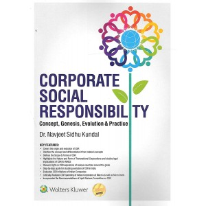 Wolters Kluwer's Corporate Social Responsibility: Concept, Genesis, Evolution & Practice by Dr. Navjeet Sidhu Kundal