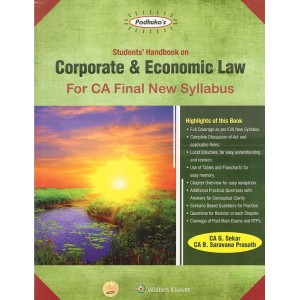 Padhuka's Students Handbook on Corporate & Economic Law for CA Final May 2020 Exam [New Syllabus] by CA. G. Sekar, CA. B. Saravana Prasath | Wolter Kluwer