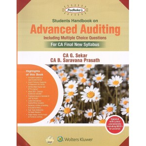 Padhuka's Students Handbook on Advanced Auditing including MCQs for CA Final May 2020 Exam [New Syllabus] by CA. G. Sekar | Wolter Kluwer