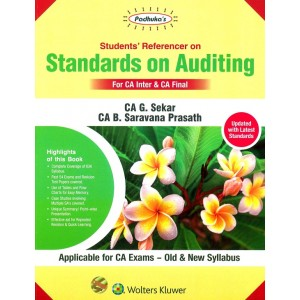 Padhuka's Student's Referencer on Standards on Auditing for CA Inter and CA Final May 2020 Exams by CA. G. Sekar [Old & New Syllabus] | Wolters Kluwer
