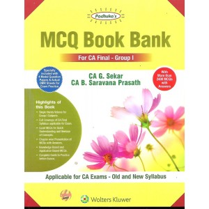 Padhuka's MCQ Book Bank for CA Final Group I May 2020 Exam [Old & New Syllabus] by CA. G. Sekar, CA. B. Saravana Prasath (Containing Advanced Auditing & Professional Ethics, Corporate & Economic Laws / Allied Laws)