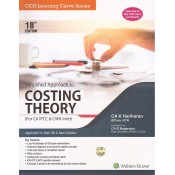 Wolters Kluwer's Simplified Approach to Costing Theory for CA IPCC & CWA Inter May 2020 Exam by CA K Hariharan [Old & New Syllabus]