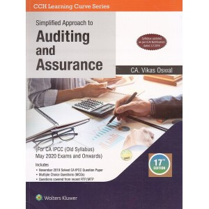 Wolters Kluwer's Simplified Approach to Auditing & Assurance For CA IPCC May 2020 Exam [Old Syllabus] by CA Vikas Oswal