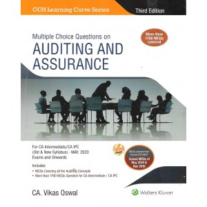 Wolters Kluwer's Multiple Choice Questions on Auditing & Assurance For CA Intermediate / CA IPC May 2020 Exam [Old & New Syllabus] by CA Vikas Oswal