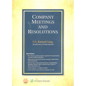 Wolters Kluwer's Company Meetings and Resolutions by CA. Kamal Garg