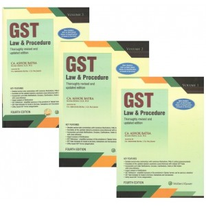 Wolters Kluwer's GST Law & Procedures 2020 by CA. Ashok Batra [3 Vols.]