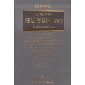 CTJ Publication's Law Relating to Real Estate Laws [HB] by Adv. Vinod Joshi | RERA