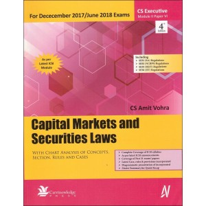 Carvinknowledge's Capital Markets and Securities Laws for CS Executive Module-II, Paper-6 December 2017 Exam by CS. Amit Vohra