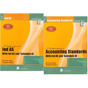 Carvinknowledge Press's A Simplified Approach to Accounting Standards (AS) for CA / CMA Final May/June 2018 Exam by Prof. Israr Shaikh and CA. Rajesh Makkar [2 Vols]