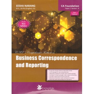 CNP's Business Correspondence and Reporting for CA Foundation Paper 2 Section B May 2018 Exam by Eesha Narang