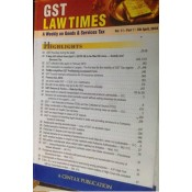 Centax Publication's Goods & Service Tax Law Times (GST) - Fortnightly Periodical by R. K. Jain (Annual Subscription for 2020)