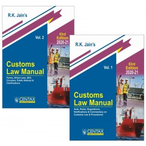 R. K. Jain's Customs Law Manual 2020-21 [2 Vols] by Centax Publication | Budget 2020 Edition