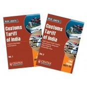 R. K. Jain's Customs Tariff of India 2021 [With Anti-dumping & Safeguard Duties] by Centax Publication [2 Vols.]