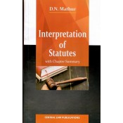 Central Law Publication's Interpretation of Statutes [IOS] For B.S.L & L.L.B by D. N. Mathur