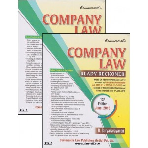 Commercial's Company Law Ready Reckoner by R. Suryanarayanan