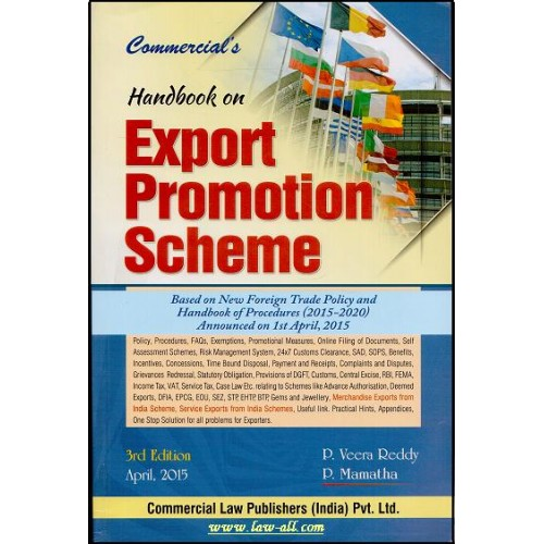 Commercial's Handbook on Export Promotion Scheme by P. Veera Reddy and P. Mamatha (3rd Edn. June 2015)