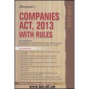 Commercial's Companies Act, 2013 with Rules [Pocket]