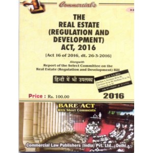 Commercial's Bare Act on Real Estate (Regulation and Development) Act, 2016 (RERA)