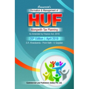 Commercial's Formation & Management Of HUF alongwith Tax Planning by S. R. Kharbanda, Prem Nath and V. Gopalan