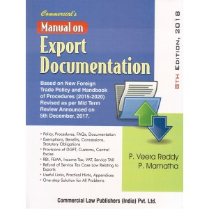 Commercial's Manual on Export Documentation by P. Veera Reddy and M. Mamatha