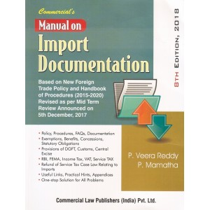 Commercial's Manual on Import Documentation by P. Veera Reddy and M. Mamatha