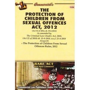 Commercial Law Publisher's The Protection of Children from Sexual Offences Act, 2012 [POCSO] Bare Act