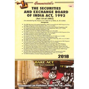 Commercial's The Securities & Exchange Board of India Act, 1992 Bare Act