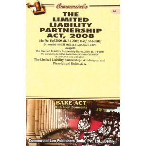 Commercial Law Publisher's Bare Act on The Limited Liability Partnership Act, 2008