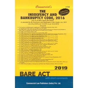 Commercial's Bare Act on The Insolvency and Bankruptcy Code, 2016