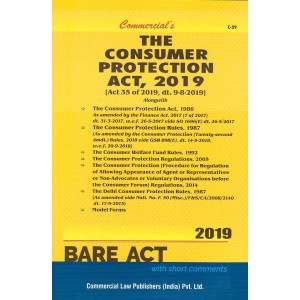 Commercial's The Consumer Protection Act, 2019 Bare Act