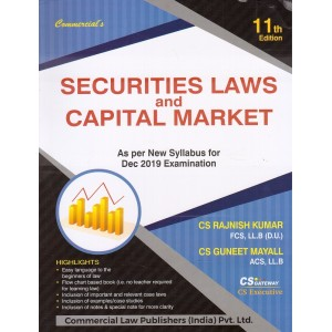 Commercial's Securities Laws and Capital Market for CS Executive December 2019 Exam [New Syllabus] by CS. Rajnish Kumar, CS. Guneet Mayall
