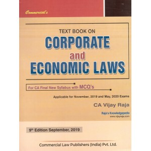 Commercial's Textbook on Corporate & Economic Laws for CA Final November 2019 [New Syllabus] by CA. Vijay Raja