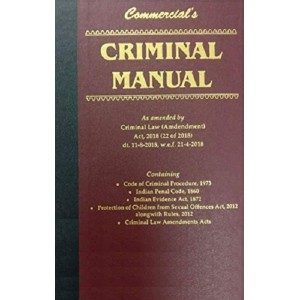 Commercial's Criminal Manual Pocket [HB]