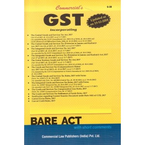 Commercial's GST Bare Act 2019