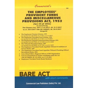 Commercial's The Employees Provident Funds and Miscellaneous Provisions Act, 1952 [EPF] Bare Act