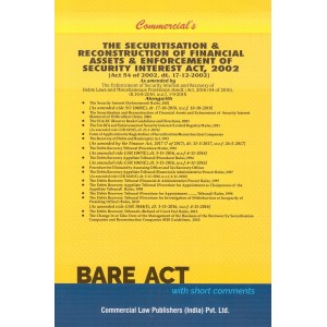 Commercial's Bare Act on Securitisation & Reconstruction of Financial Assets & Enforcement of Security Interest Act, 2002 [SRFAESI]