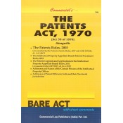 Commercial's The Patents Act, 1970 with Rules, 2003 Bare Act
