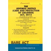 Commercial's The Juvenile Justice (Care and Protection of Children) Act, 2015 Bare Act | JJ Act