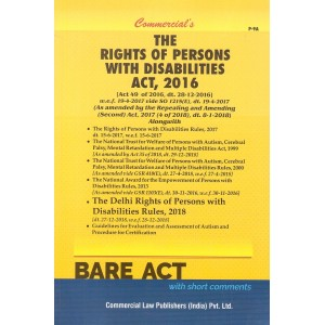 Commercial's The Rights of Persons with Disabilities Act, 2016 Bare Act