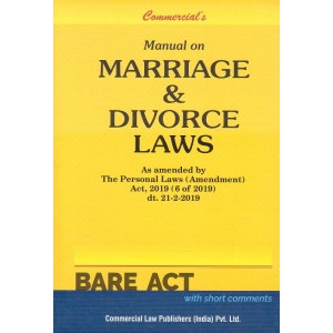 Commercial's Manual on Marriage & Divorce Laws [Family Law I & II] Bare Act [HB]
