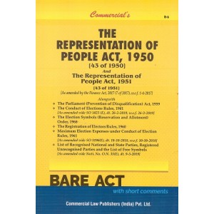 Commercial's The Representation of People Act, 1950 & 1951 Bare Act