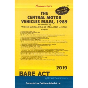 Commercial's The Central Motor Vehicles Rules, 1989 [Bare Act]