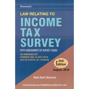 Commercial's Law relating to Income Tax Survey by Ram Dutt Sharma