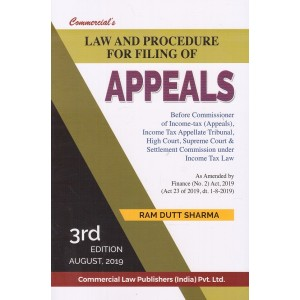 Commercial's Law and Procedure of Filing of Appeals by Ram Dutt Sharma