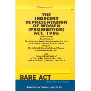 Commercial's The Indecent Representation of Women (Prohibition) Act, 1986 Bare Act