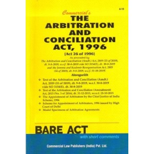 Commercial's The Arbitration and Conciliation Act, 1996 Bare Act