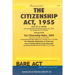 "Commercial""s The Citizenship Act, 1955 with Rules, 2009 Bare Act"