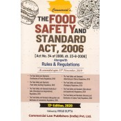 Commercial's The Food Safety & Standards Act, 2006 alongwith Rules & Regulation by Virag Gupta