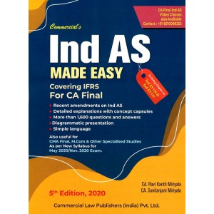 Commercial's IND AS Made Easy for CA Final May 2020 / Nov. 2020 Exam [New Syllabus] by CA. Ravi Kanth Miriyala, CA. Sunitanjani Miriyala